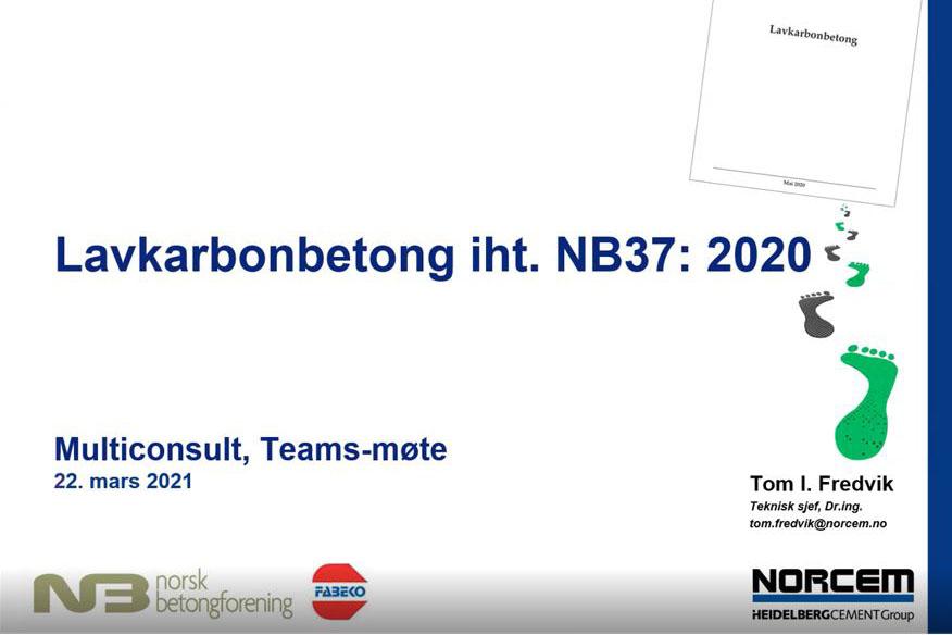 Lavkarbonbetong NB37:2020