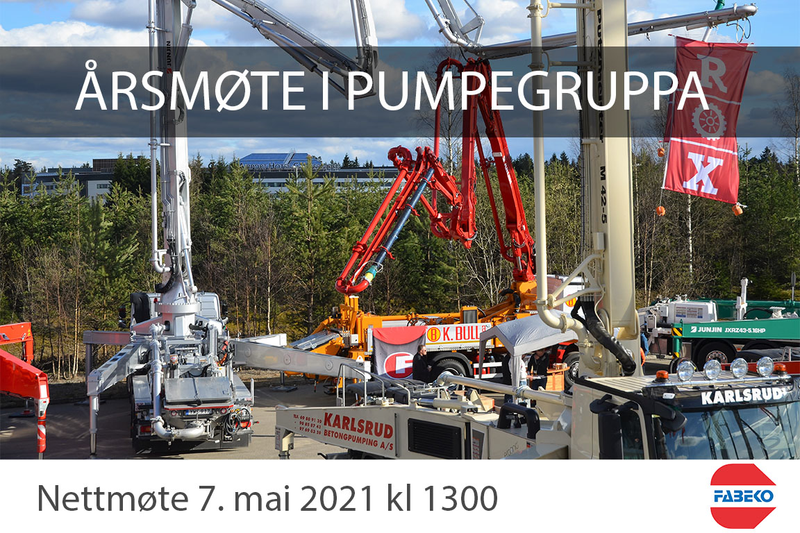 Årsmøte FABEKO pumpegruppa 2021