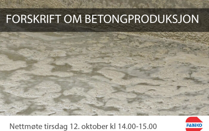Forskrift om betongproduksjon
